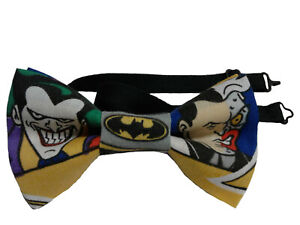 Joker and Two Face Bow Tie, Pretied,Adult 4 and Half Inches by 2 and a half Inch