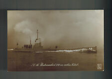 Mint WW 2 Germany Real Picture Postcard U Boat Submarine U 16 at Sea on Surface