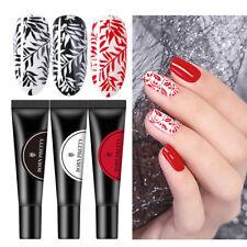 3 Bottles BORN PRETTY Nail Stamping Gel Polish Kit Red Black White Color 8ml