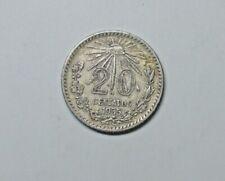 MEXICO SILVER 20 CENT 1935.     0.720 SILVER.  KM 438.