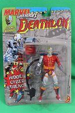 Marvel Super Heroes Deathlok Hidden Cyber Strength Figure Toy Biz New on Card