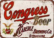 Congress Beer Vintage Reproduction metal sign 8 x 12