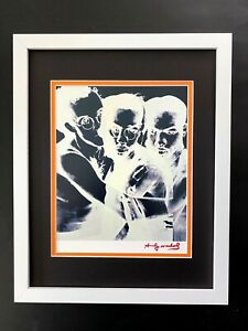 ANDY WARHOL + 1984 SIGNED KEITH HARING PRINT MATTED 11X14 + BID NOW