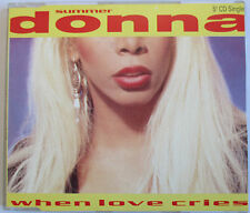 "DONNA SUMMER - MAXI CD ""WHEN LOVE CRIES"""