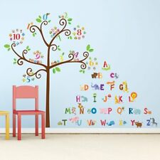 Alphabet Tree Wall Decals Letters Animals Nursery Playroom Room Decor Stickers