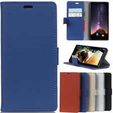 Luxury Litchi Card Wallet Flip Leather Cover Case For iPhone Moto Sony LG Nokia