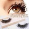 3D New 1 Pair of Reusable Self-Adhesive Natural Curly False Eyelashes Extension