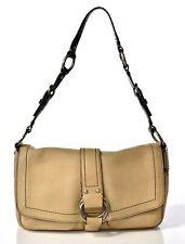 Women's Luxury COACH Leather Tan Brown Purse Shoulder Strap Handbag Q178