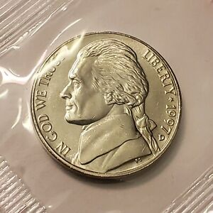1997 D Jefferson Nickel in Cello from U.S. Mint, Brilliant Uncirculated