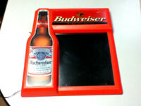 Budweiser beer sign light lighted wall display bar special board Menu writtable