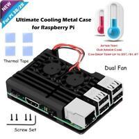 Dual Fan Cooler Fan Heatsink With Metal Case For Raspberry Pi 3B+/3B/2B+/2B
