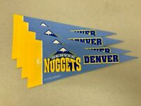 "(4) Denver Nuggets NBA Basketball 4""x9"" Vibrant Mini Team Logo Pennant Decor NEW"