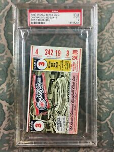 1967 World Series Game 4 Ticket Stub Red Sox vs. Cardinals PSA