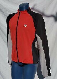 Vtg Pearl Izumi Cycling Jersey Men XL Fleece Lined Red Black Gray Color Block