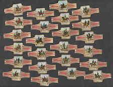 Série complète de 24   Bagues de Cigare Ritmeester Cavalerie France Cheval