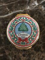 HALCYON DAYS  1988 CHRISTMAS ENAMEL BOX - MINT CONDITION