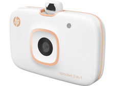HP 2FB96A Sprocket 2-in-1 Portable Photo Printer & Instant Camera White - NEW