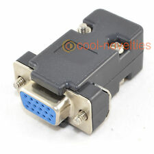 DB15HD 15 modo D SUB VGA FEMMINA HD SOCKET CONNETTORE CON CAPPUCCIO NERO / Shell