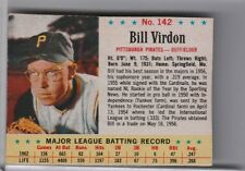 1963 POST CEREAL #142 BILL VIRDON PITTSBURGH PIRATES 8067