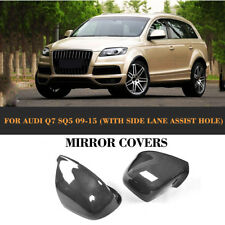 Carbon Side Mirror Covers Caps fit for Audi Q5 Q7 SQ5 with Side Assist 09-15