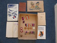 WWII Medals Miniatures Soldier's Service Pay Book Raf The War Office 1944 Combat