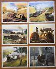 6 x Laminated Full Colour Prints by Australian Artist Phil Belbin - Steam Trains