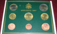 VATICAN CITY - PONTIFICATE OF JOHN PAUL II (YEAR 2005) - EIGHT COINS SET