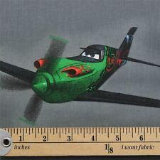Licensed Disney Cartoon Marvel DC Comic Character 100 Cotton Curtain Fabric Planes Grey