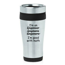 Stainless Steel Insulated Travel Coffee Mug Funny Engineer I'm Good With Math