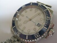 30M DIVERS SUBMARINERS GENTS AUTO MECHANICAL WATCH WHITE DIAL- JUBILEE BRACELET