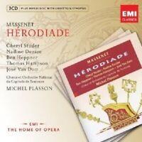 """PLASSON/STUDER/HEPPNER/HAMPSON """"HERODIADE"""" 3 CD+CD-ROM NEU"""