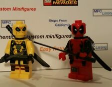 Deadpool Movie Minifigure Red / Yellow Marvel Comic Wade Winston Figure UK ship
