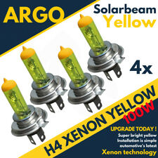 H4 100w Super Yellow Xenon Halogen Car Motorcycle Headlight Bulbs X4