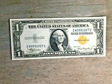 1935 A US $1 Dollar North Africa Note Bill Yellow Seal Emergency Paper Money