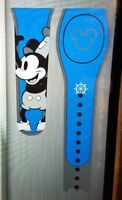 Disney STEAMBOAT WILLIE MICKEY BLUE Magic Band 2 Magicband Link It Parks New