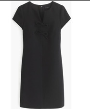 J. Crew Black Label Presentation Dress Black Bow A line Size 6T $138