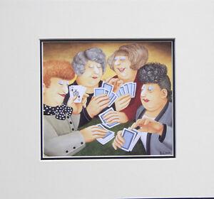 Beryl Cook A Full House. Mounted Print