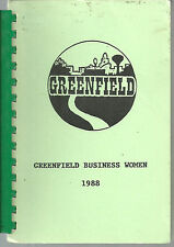 * GREENFIELD IA 1988 VINTAGE * BUSINESS WOMEN COOK BOOK * IOWA COMMUNITY RECIPES