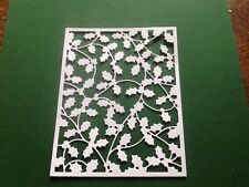 8 x Die cuts HOLLY BACKGROUND **FREE POSTAGE***