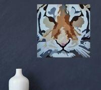 Tableau peinture tigre animal art contemporain décoration toile signée
