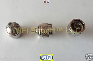 1 x N type Male to MCX Female Straight RF Connector Adapter Ships from USA