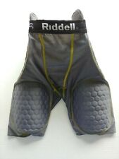 Boys Riddell Power Football Girdle Padded Compression Shorts Gray Youth Large