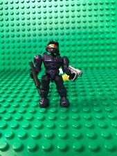 HALO MEGA BLOKS PURPLE UNSC SPARTAN MARK VI W/ BATTLE RIFLE MINI FIGURE