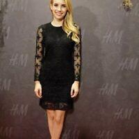 Isabel Marant Pour H&M Black Lace Cotton Dress Size 38 Uk 8/10 Immaculate