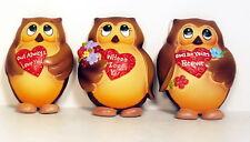 Owl Refrigerator Magnets Set of 3 Retro Style Valentines by Ganz