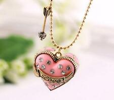 Pendant Betsey Johnson Fashion Jewelry Rhinestone Heart-shaped chain necklace