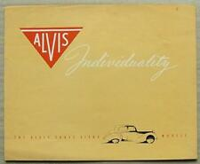 ALVIS THREE LITRE Saloon, DROPHEAD COUPE & Sports Car Sales Brochure c1953?