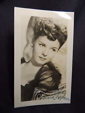"Vtg Signed Autographed Studio Hollywood Movie Diana Lynn 2.5"" x 4"" Child Actress"