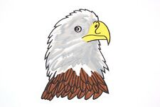 EAGLE HEAD EMBROIDERED LARGE SIZE IRON ON, SEW ON PATCH FOR JACKETS, BAGS ETC