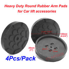 4Pcs Black Heavy Duty Round Rubber Arm Pads for Car Lift Accessories Dia: 120mm